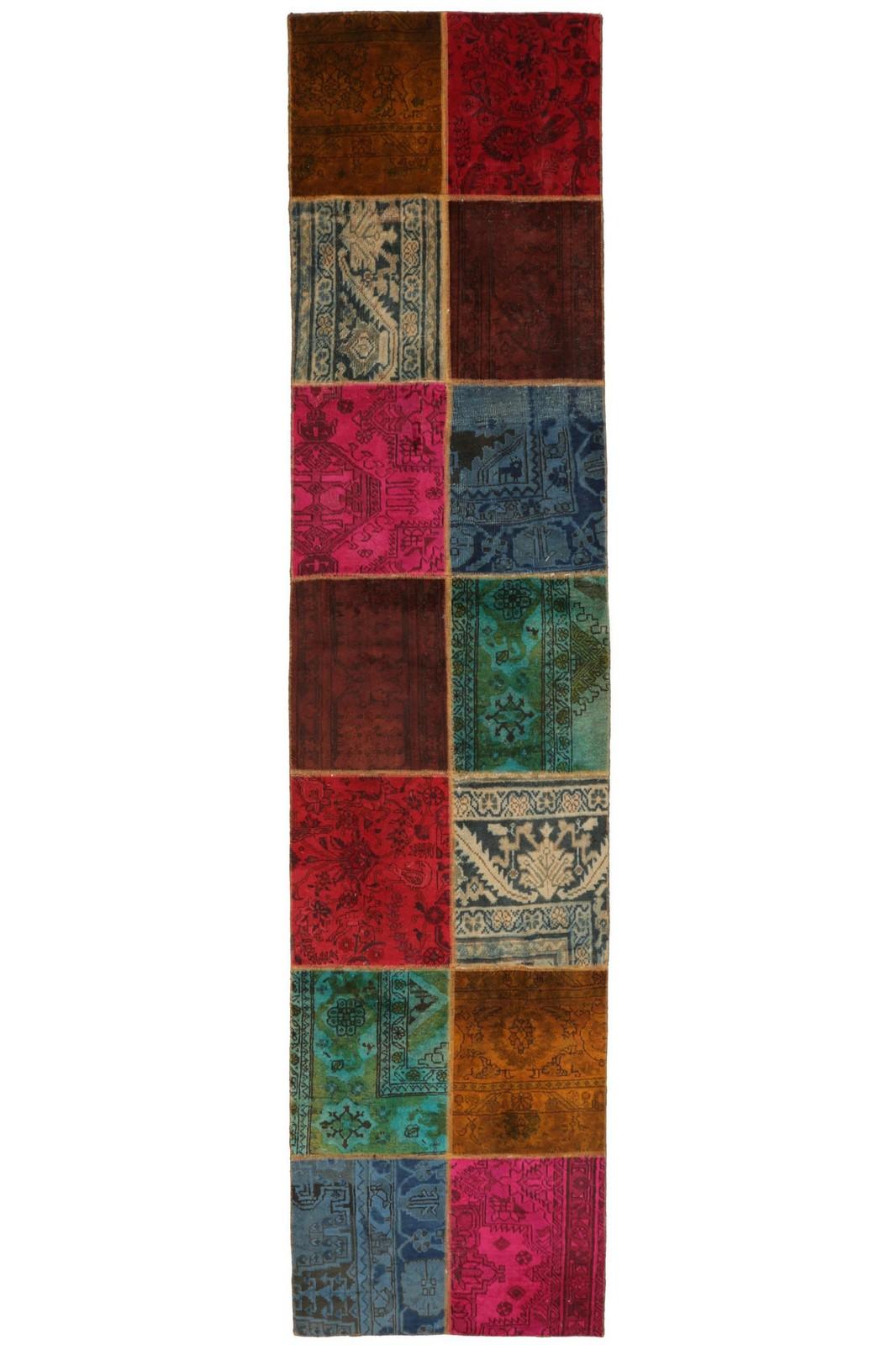 Persisk Patchwork løber, 355 x 84 cm - Persisk Patchwork løber, fremstillet af persiske vintage fragmenter. 355 x 84 cm