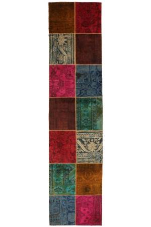 Persisk Patchwork løber, 355 x 84 cm. - Dk, Roskilde, Store Hedevej - Persisk Patchwork løber, fremstillet af persiske vintage fragmenter. 355 x 84 cm. - Dk, Roskilde, Store Hedevej
