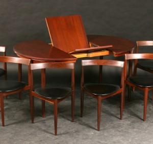 hans olsen runder esstisch mit 6 st hlen. Black Bedroom Furniture Sets. Home Design Ideas