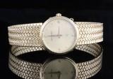 18kt ladies bucherer diamond watch approx. 0.05ct