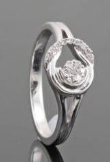 18kt. diamond ring approx. 0.11ct