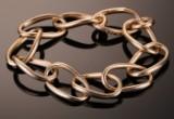 Ole Lynggaard. A substantial 'LOVE' bracelet, 14 kt. gold