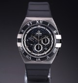 Omega 'Constellation Double Eagle Mission Hills' men's watch, titanium, black dial, c. 2008