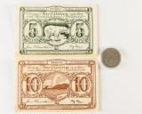 Grønland: 2 pengesedler og mønt (3)