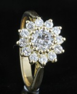 18kt diamond cocktail ring approx. 1.05ct