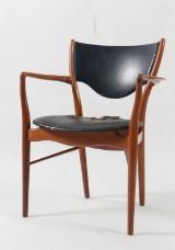 Finn Juhl. Armchair, model BO 72, solid teak