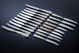 Horsens Sølvvarefabrik. 'Rita' knive med skafter af sølv (20)