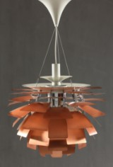 Poul Henningsen. PH Artichoke, copper, Ø 60 cm, early model