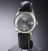 Rolex 'Datejust'. Herreur i stål med sølvfarvet skive, ca. 1971