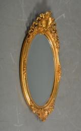 Ovalt spejl i forgyldt ramme, Louis XVI-stil, ca. 1900