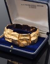 Lapponia armlænke af 14 kt. guld, designet af Björn Weckström