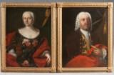 Ubekendt maler, portrætter af to adelige, 1700-tallet, oliemaleri (2)