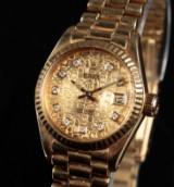 Rolex President Datejust ladies watch, 18 kt. gold, ref. 6917