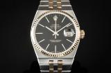 Rolex Oysterquartz Datejust men's watch, 18 kt. gold and steel, ref. 17013. c. 1985
