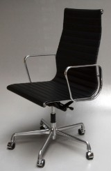 Charles Eames. Office chair, special order with return mechanism. Model EA-119 'Full leather'