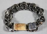 Victor Jansson, armband, silver samt 18K guld, vikt ca 121 gr
