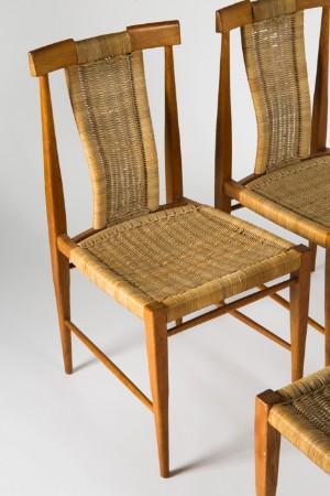 Vier Teak Stühle Der 1960er Jahre Mit Kordelgeflecht 4 Lauritzcom