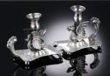 Ehrenberg. Et par sjældne 'drage'-stager af sølv, 1800-tallets midte (2)