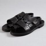 Bottega Veneta, sandaler i svart skinn