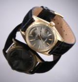 Vintage Rolex 'Day-Date' men's watch, 18 kt. gold, silver-coloured dial, c. 1971