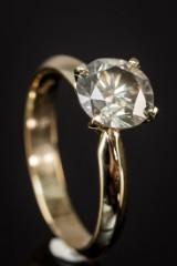 14 kt. gold ring, brilliant-cut diamond, 1.91 ct.