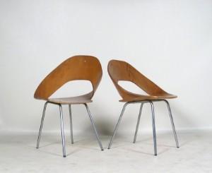 schichtholz st hle der 1950 60er jahre von thonet 2. Black Bedroom Furniture Sets. Home Design Ideas