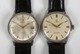 Omega Seamaster, armbandsur, 2 st