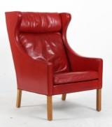 Børge Mogensen. Wing chair model 2204, original upholstered