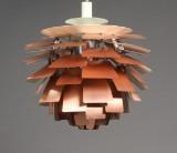 Poul Henningsen. Pendel 'Koglen' af kobber, Ø 60 cm