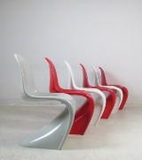 Verner Panton, set of Panton Chairs, 3rd series ZE Möbel/WK (6)