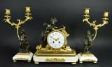 Pendule with candelabras, Napoleon III (3)