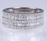 HJ Namdar. Moderner Diamant- und Brillantring aus 14 kt. Weißgold, zus. ca. 1.28 ct