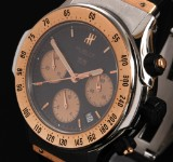 Hublot 'Super B MDM'. Men's chronograph, 18 kt. rosé gold and steel with date