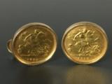Manchetknapper med mønter (2)