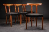 Ole Wanscher. A set of four T Chairs, mahogany, A. J. Iversen (4)