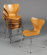 Arne Jacobsen, 7'er stole, egetræ, model 3107 (9)