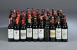 Vinsamling af primært Bordeaux rødvine (104).