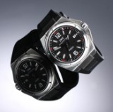 ICW 'Ingenieur Mission Earth'. Men's watch in steel with black dial, c. 2010