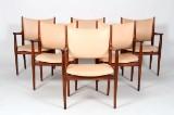 Hans J. Wegner. Six lounge chairs, model JH513, teak (6)