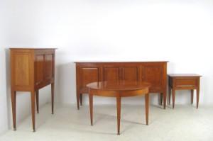 Spisestue fra 1940erne, Frankrig, skænk, skab, spisebord + barbord ...