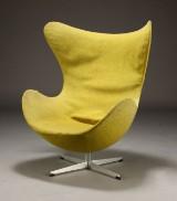 Arne Jacobsen. 'The Egg' lounge chair, early model, c. 1960