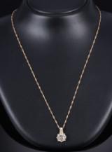 Brillantvedhæng af 18 kt. guld med stor brillant på 1.35 ct