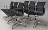Charles Eames. A set of six chairs, model EA 108, with mesh (6)