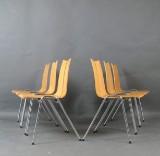 Hans Bellmann, set of chairs model GA for Horgen Glarus (6)