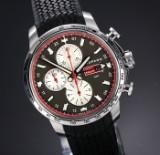 Chopard 'Mille Miglia GMT'. Men's watch in steel with dark dial - box + cert. 2013