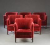 Dansk Møbelproducent. Seks fuldpolstret lænestole (6)