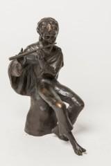 Helmut Bourger, bronzefigur, fløjtespiller, 1985