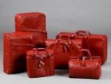 Ferrari 550 Maranello, 6 leather suitcases/bags, leather (6)