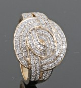 Diamond ring in gold approx. 0.73ct