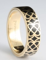 14kt black emaille rotating ring, by S.T.diamond